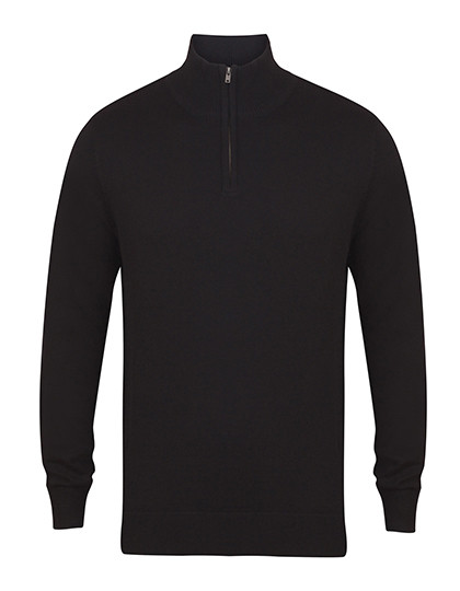 W729 Henbury Mens Quarter Zip Jumper
